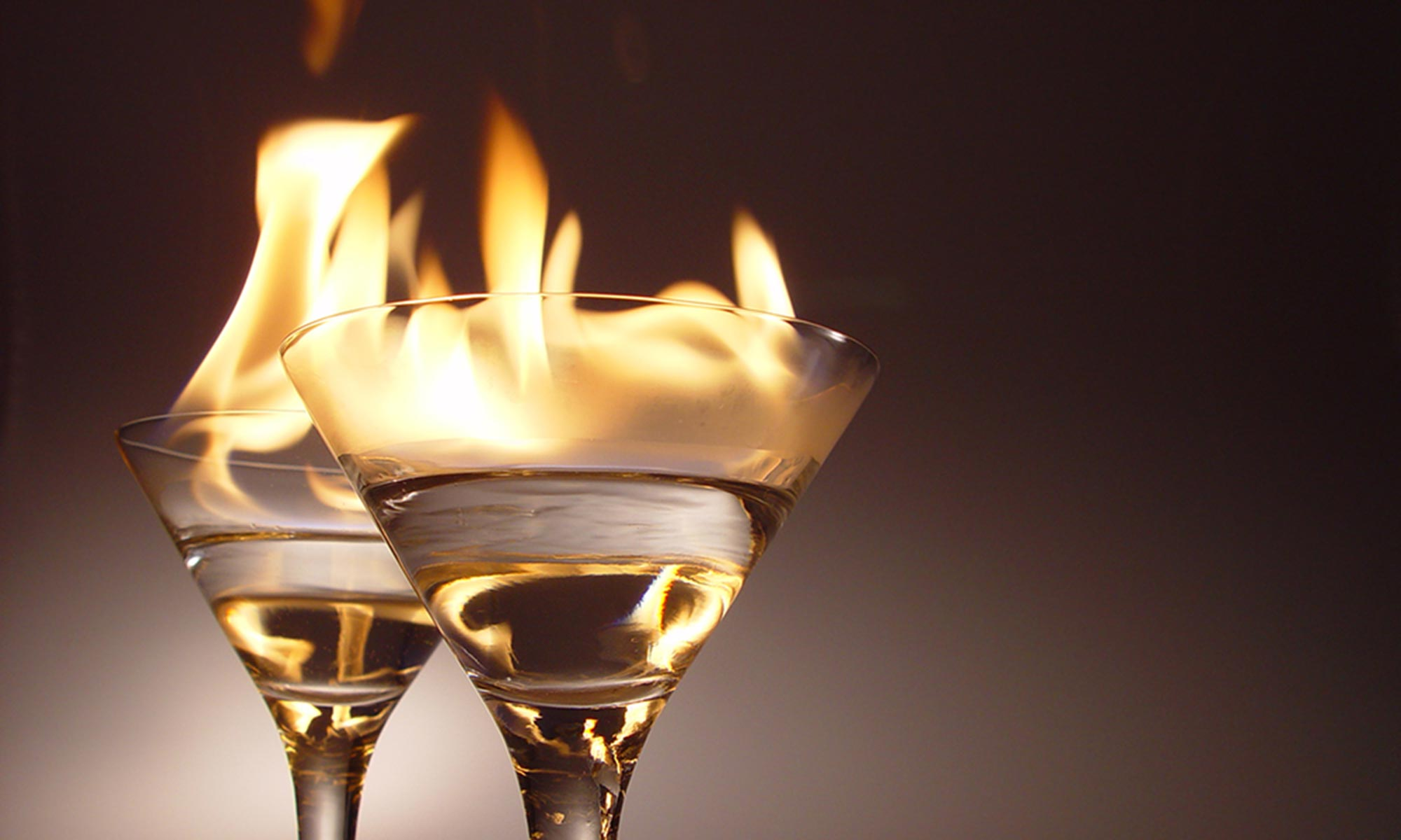 photo of drinks on fire
