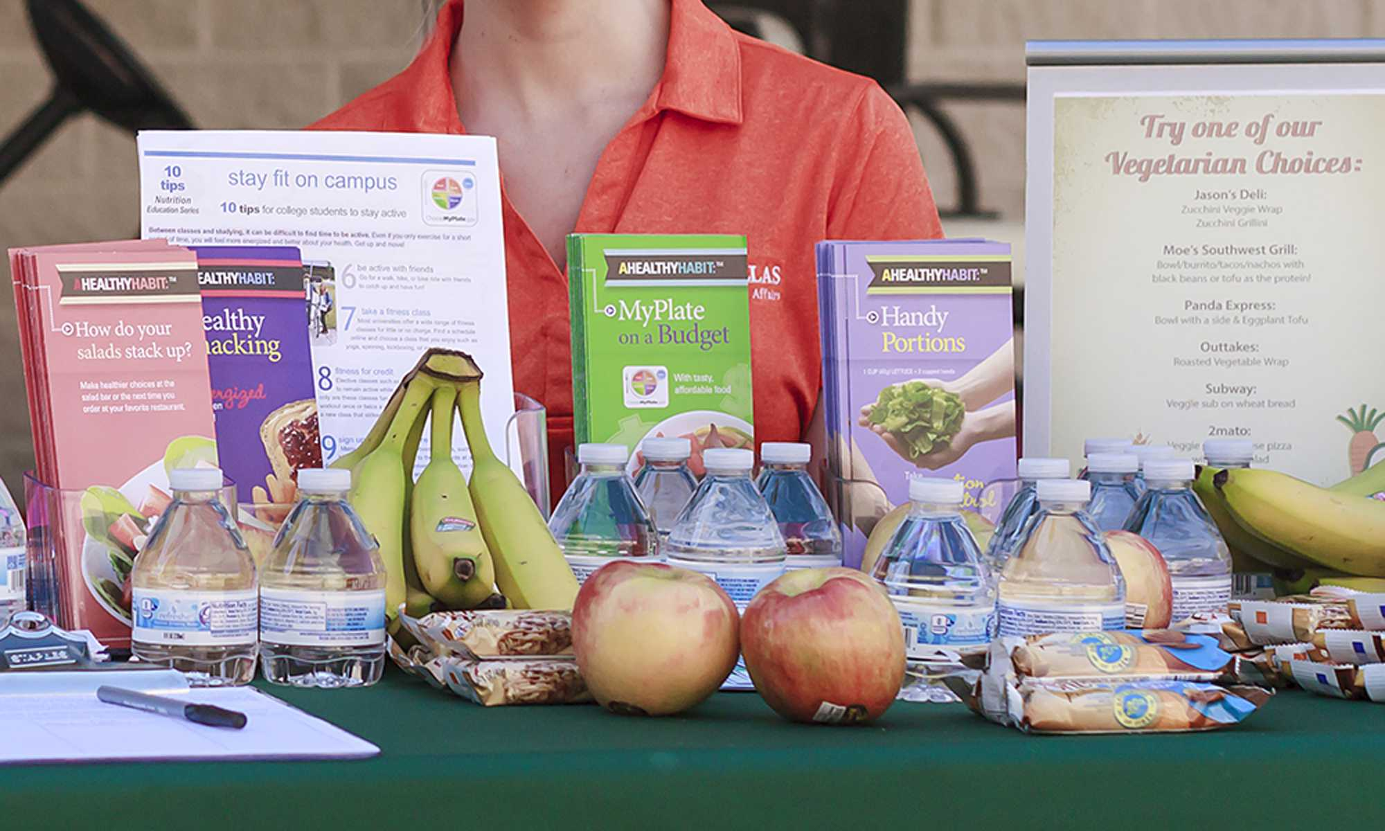 Photo of nutritional information brochures